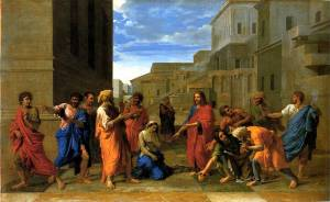 christ-and-the-woman-taken-in-adultery-1653-oil-on-canvas-louvre-paris-france-poussin
