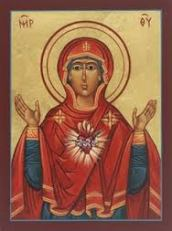 Icon of the heart of Mary