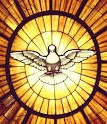 Stained glass image of Holy Spirit
