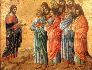 Christ teaching the apostles