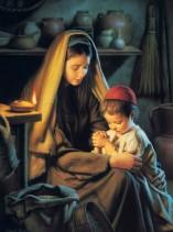 Mary and Jesus praying