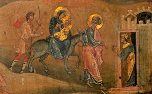 St Joseph flight into Egypt icon